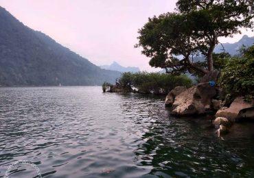Điểm du lịch đảo Bà góa Hồ Ba Bể